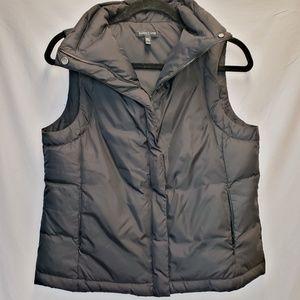Eileen Fisher Black Zippered Down Puffer Vest, PS